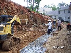 Excavation and Gravel Footing